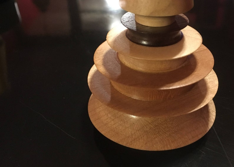 Ring Holder Dish for Kitchen bedside Small Wood Jewelry Nest nightstand