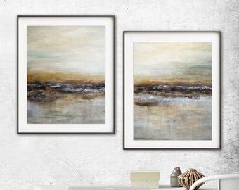 Digital prints set of 2 printable art wall decor instant download diptych art abstract digital print painting art line modern artwork decor