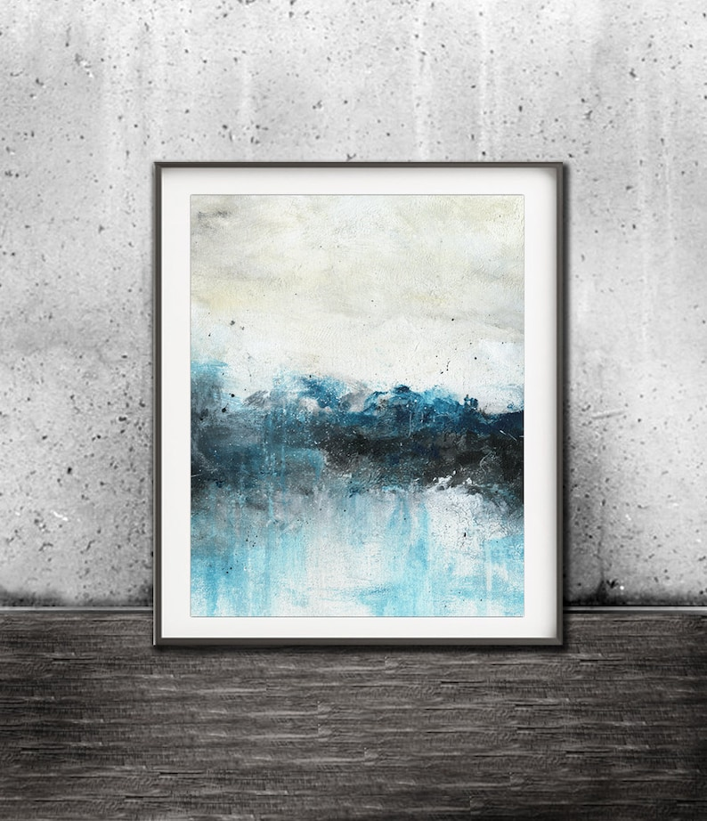 Printable art digital print download abstract landscape print image 0