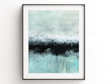 Printable art wall decor instant download art digital print abstract landscape painting black line modern interior design artwork home decor