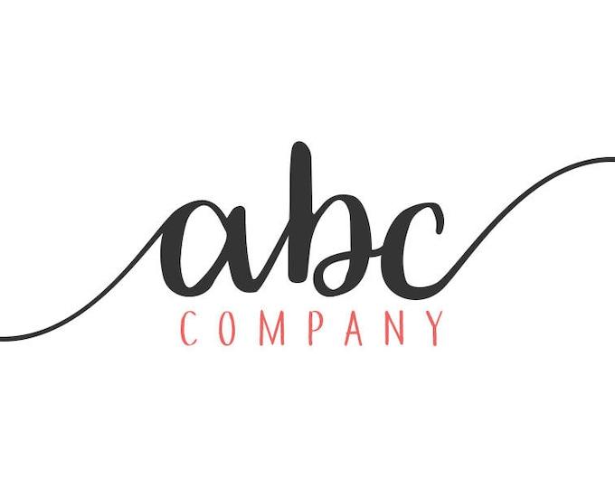 Customized script logo