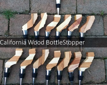 5 wood bottle stoppers/wood bottle stopper/wedding gifts/party gifts/office gifts