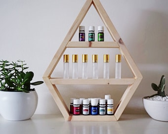 Minis Collection Essential Oil Storage; Hexagon, Triangle & Geo (sold individually)