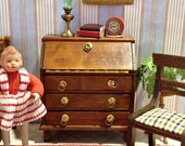 Miniature Shackman Governor Winthrop Desk, Drop -Front, NIB Vintage from 1960 39 s-70 39 s for the 1 12 Scale Dollhouse