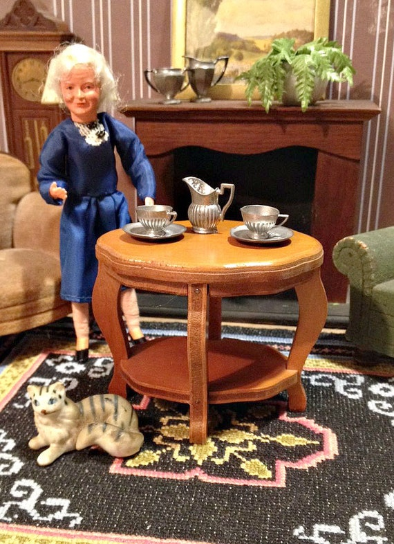 Cool Miniature Wanner Side Table Tea Table Parlor Table Vintage Grand Rapids From 1930S 40S For 1 12 Dollhouse Living Room Download Free Architecture Designs Lukepmadebymaigaardcom