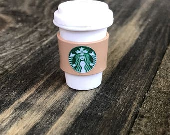 Starbucks Hot Coffee Cup Charm/Necklace/Earrings