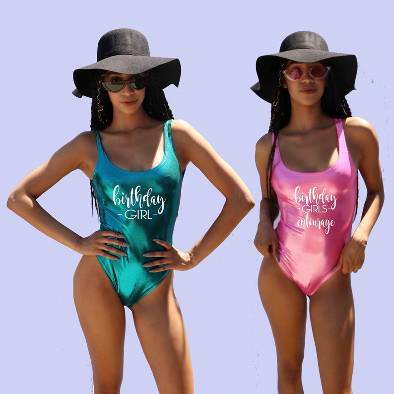 bfcd0c2c493fb Birthday Girl Entourage Birthday Entourage Swimsuit Birthday | Etsy