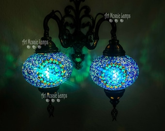 Turkish Moroccan sconce mosaic wall sconce