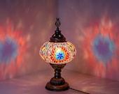 Table Mosaic lamp Desk Night Stand Turkish Lamps Moroccan Lantern Moon Lamp - Free Shipping