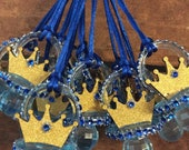 1)Royal prince crown baby shower pacifier/royal prince crown baby shower favors/royal prince crown necklace game/royal prince baby shower