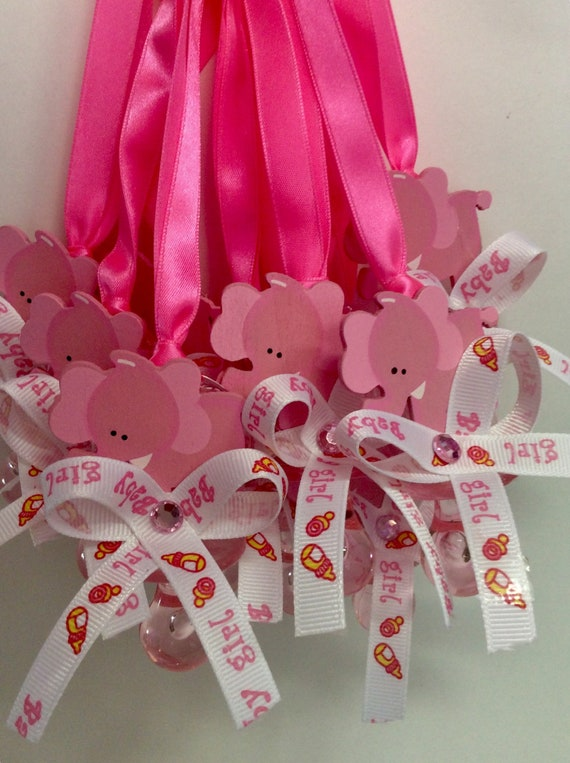 Elephant Pink Baby Shower Pacifierelephant Pink Baby Shower Etsy