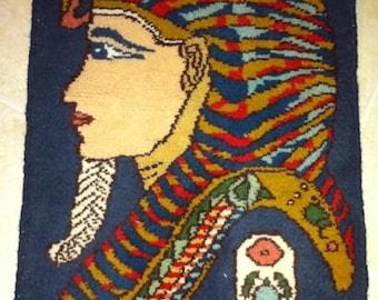 Egyptian tapestry handmand Tuthankamon