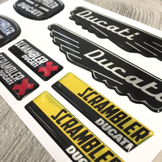 Ducati Scrambler 3d Domed Sticker Emblems