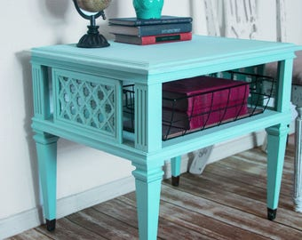 Mid Century End Table, Farmhouse End Table, Shabby Chic End Table, Night Stand