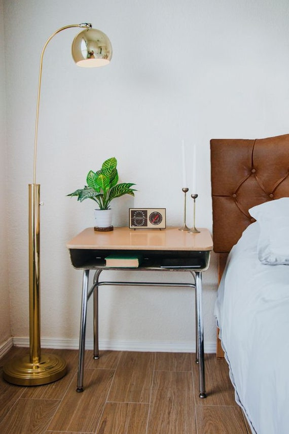 Vintage School Desk Nightstands End Tables Industrial Bedroom Etsy