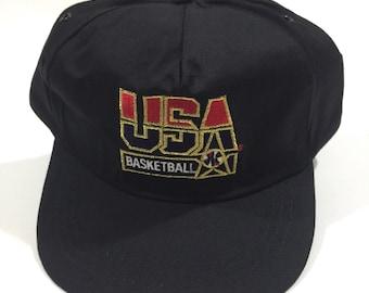 5b4b90cc98d Very Good 1992 Olympic Games Hat USA dream Team Basketball Macdonalds AJD  Hat