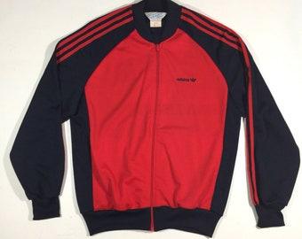 cc7b14f5823504 True Vintage Adidas Trefoil Logo Full Zip Track Jacket Mens Large Like New!  C2