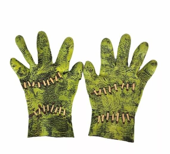 Rare Unique Frankenstein Costume Gloves Halloween