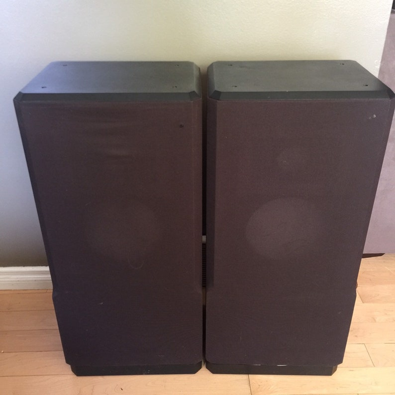 Rare Acoustic Research Ar93q Speaker Enclosure Cloth Cover Etsy