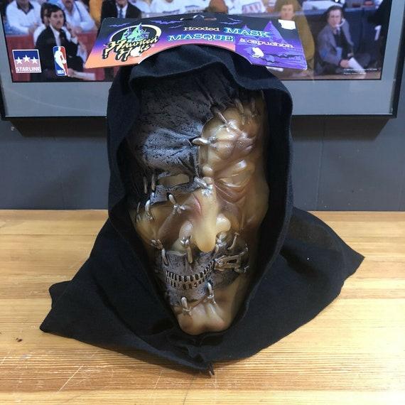 Haunted Halls Hooded Mask Vintage Halloween Custom