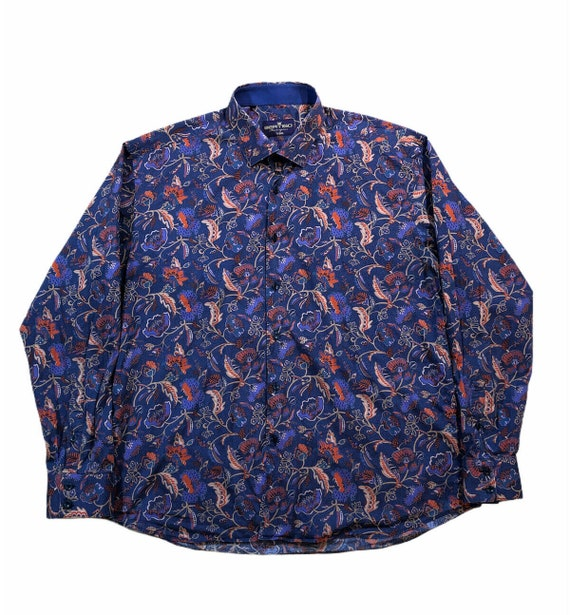 Bertigo Floral Long Sleeve Casual Mens Shirt Eize
