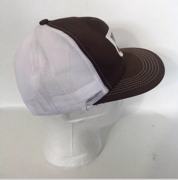 Vtg Betaseed Trucker Hat Snapback Brown Farming Beta Seed Cap  f7b7e8f2e53a
