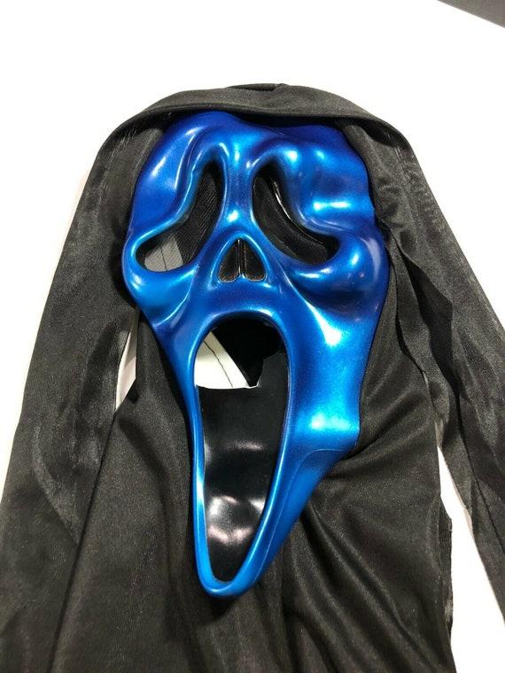 Scream Mask Metallic Blue Halloween Costume Mask E