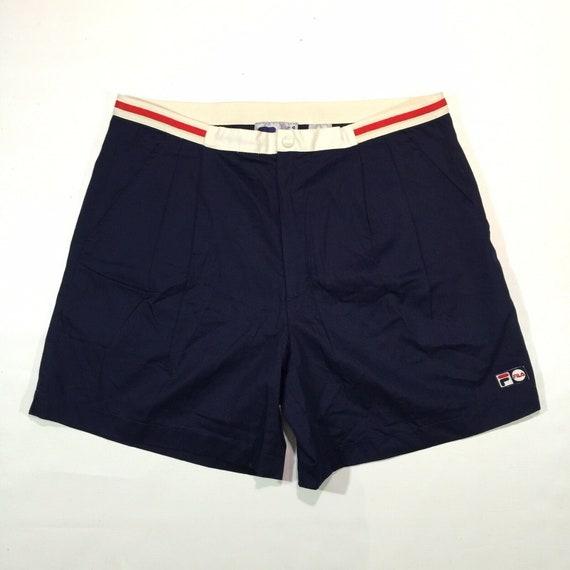 Vintage FILA 3 Pockets Blue Tennis Shorts Size 38