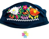 Spring Flower Embroider Facemask - Mexican Design