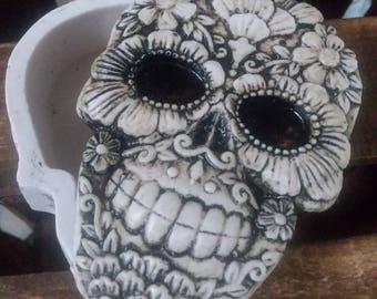 Sugar skull Jewelry Box, Day of the dead