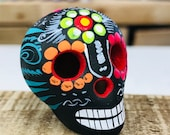 Mexican Sugar Skull - Dia de los Muertos Skull - Day of the Dead Guerrero Skull - Calaverita