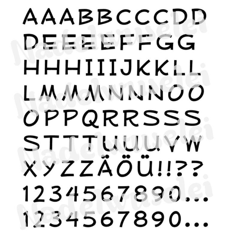 Ironing frame alphabet 2 cm print font color selection ABC