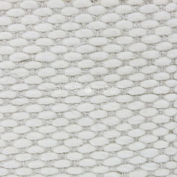 Items Similar To SALE White Rug Handmade Wool Plain Area