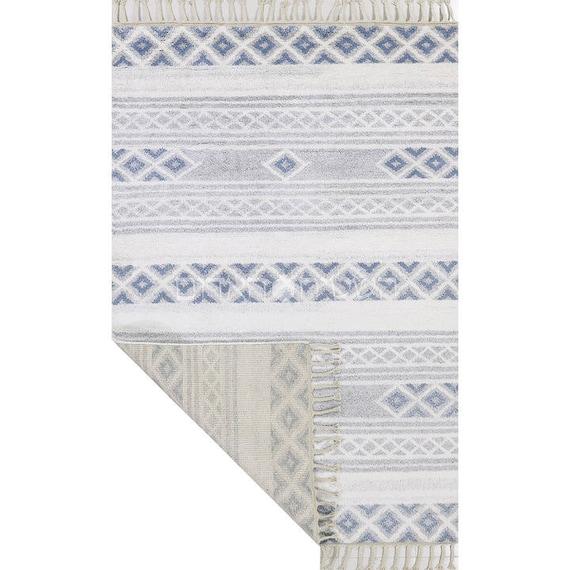 SALE Blue Berber Handmade Moroccan Style Wool Rug Berber