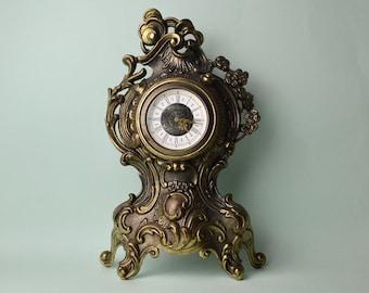 Antique ornate mantel clocks