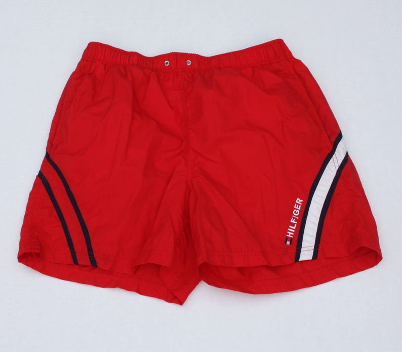 e9daf0c6 Vintage Tommy Hilfiger 90's Swim Trunks Men's Sz. XL | Etsy