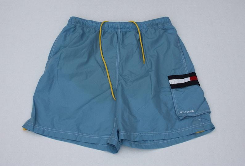 Vintage Tommy Hilfiger Light Blue Swim Trunks Men/'s XL