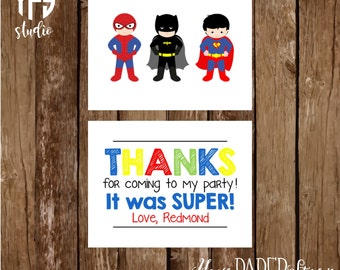 Superhero Notecard