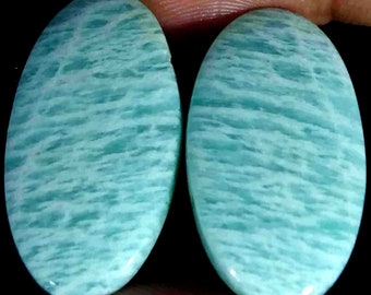 Loose Gemstone Natural Amazonite Pear Shape Cabochon For Making Jewelry,gem For Pendent,Amazonite Gemstone,15.5 Ct 27X14X5 mm TG-1810