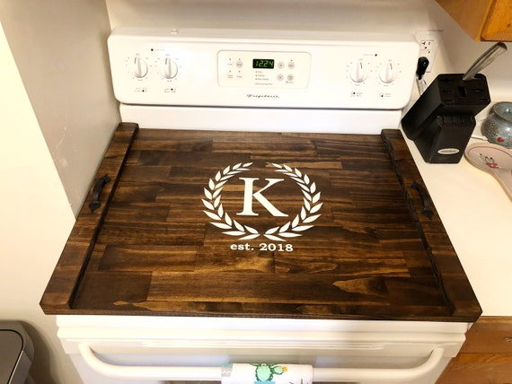 Rustic Stove Top Cover Custom Wooden Stove Cover Wooden