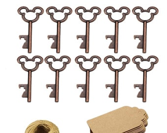 198ec7a430e1 50 Mickey Mouse key bottle openers Bronze Wedding Favors Fish Extender  Gifts FE Gifts Party Favor Disney Cruise Vintage keys