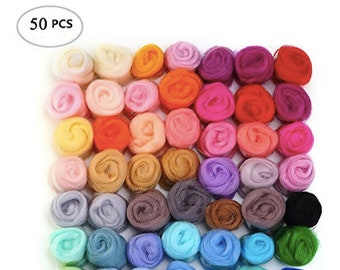 Wool Roving Wool Roving Felting Wool Roving 4 Spinning Wool Roving for Sale Needle Felting Supplies