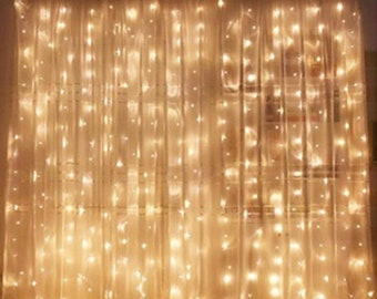 Window Curtain String Light Wedding Party Photo Prop Fairy Birthday Home Garden Bedroom Outdoor Indoor Wall Decorations
