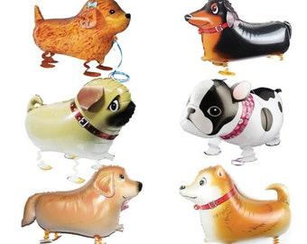 d4fa4acb9c9 6 Dog Party Dog Puppy Balloon Walking Pet Animal Birthday Party Dog Themed Party  Supplies Funny Balloon