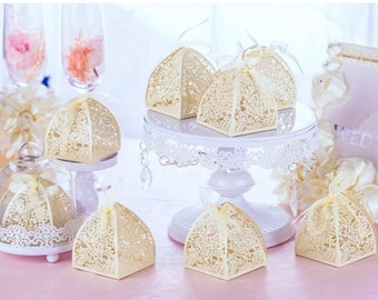 50 Candy Favor Boxes Baby Shower Favors White Wedding Favor Boxes Pink Rose  Candy Boxes Ivory quinceanera favors Rose Flower Wedding Favor 2f709e67d1c21