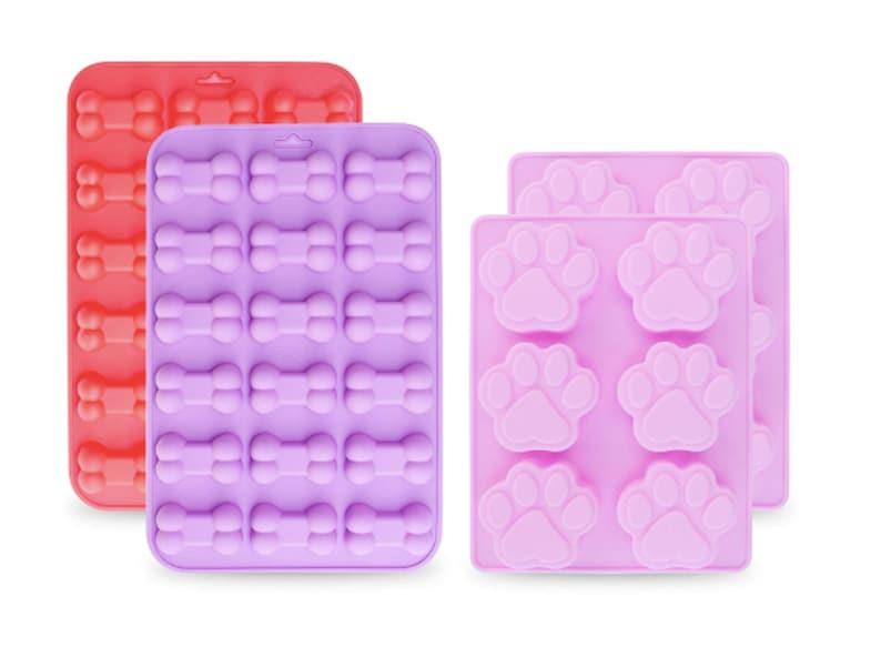 4 Dog Treats Bones Dog Paw Mold Bone Mold Silicone Baking Mold Cake  Chocolate Candy Mini Bone Shape Silicone Ice Cube Trays Soap Pet Cookies