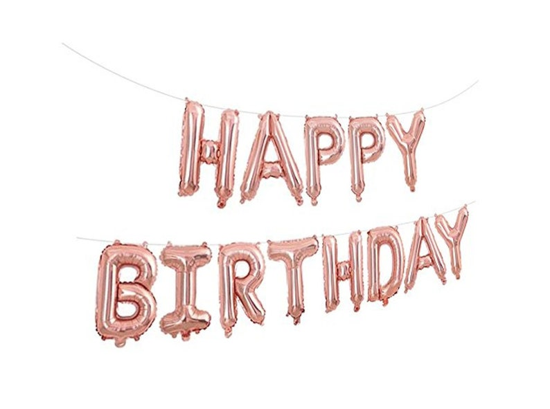 Happy Birthday Balloon Banner Balloons Letter