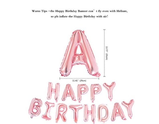 Rose Gold 13th Birthday Party 13 Number Balloons Girl Teen Decorations Happy Banner Star Helium Foil
