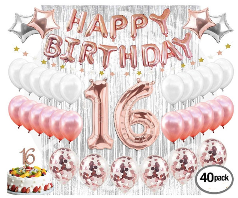 16th Birthday Decorations Party Supplies Sweet 16