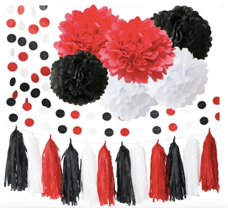 Minnie Mouse Party Decorations White Black Red Ladybug